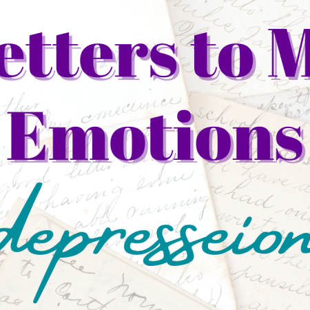 letters to my emotions: depression title card